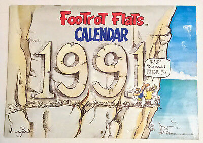 FOOTROT FLATS CALENDAR 1991 ~ SCARCE with RARE FULL COLOUR POSTER ~ MURRAY BALL