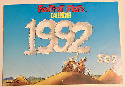 FOOTROT FLATS CALENDAR 1992 ~ SCARCE with RARE FULL COLOUR POSTER ~ MURRAY BALL