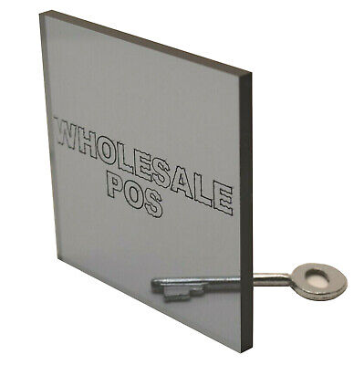 Light Smoked Grey Tinted Perspex Acrylic Plastic Sheet 9T21 6mm to 15mm Thick