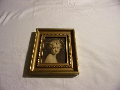 Vintage Jesus Light of the World by Edward Gross Co. Wood Frame 7.5 x 6.5