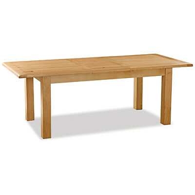 Oakvale Compact  Extending Dining Table / Solid Wood Kitchen Table / 8 Seater