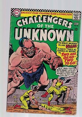 DC Comics CHALLENGERS OF THE UNKNOWN COMIC No. 52 Nov 1966 12c USA