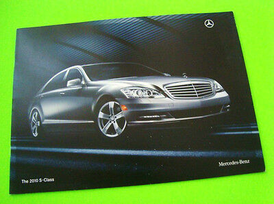 2010 Mercedes Benz S CLASS SEDAN DLX CATALOG Brochure w/ COLOR SELECTIONS n-MINT