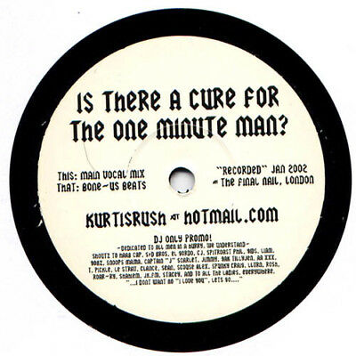"""Kurtis Rush - Is There A Cure For The One Minute Man? / VG+ / 12"""", Promo"""