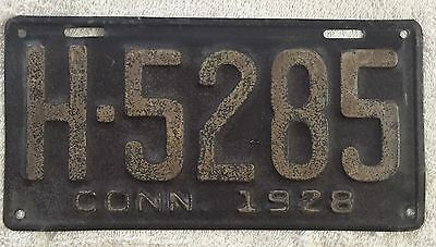 Good Solid 1928 Connecticut License Plate  SEE MY STORE