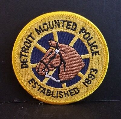 Detroit Michigan Mounted Police Patch (3In) DPD - NOS - New Old Stock