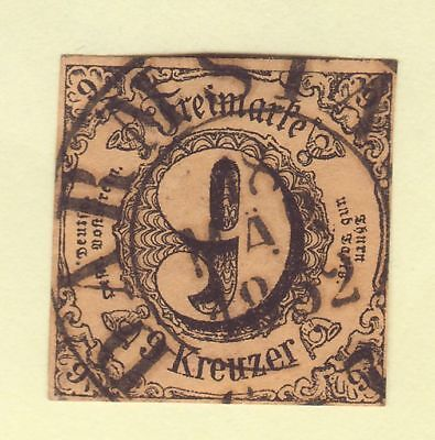 ## AD Thurn & Taxis MiNr 10, ORTS - Stempel DARMSTADT , ideal , TADELLOS ##