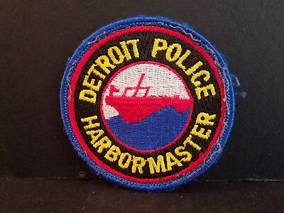 Detroit Police Harbor Master Police Patch - DPD - NOS - New Old Stock