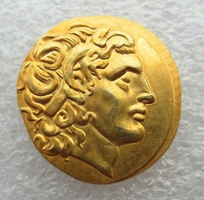Rare Ancient Greek King Alexander III the Great 336-323 BC.Gold Plated Drachm
