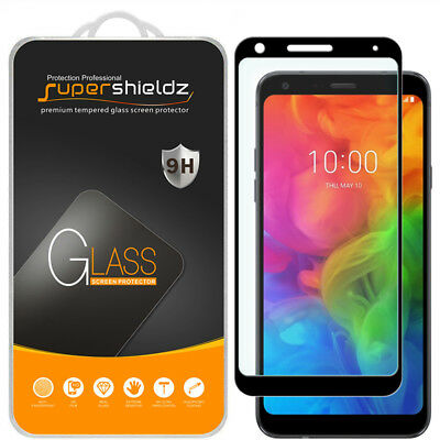 2X Supershieldz Full Cover Tempered Glass Screen Protector for LG Q7+ / Q7 Plus