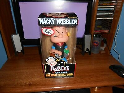 Funko Popeye The Sailorman 12' Talking Bobble-Bank Brand New Free Shipping!!!
