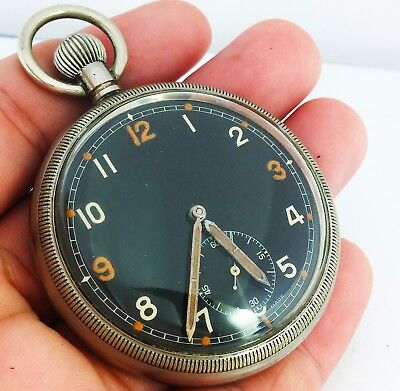 Vintage Swiss Made Military Pocket Watch - Working