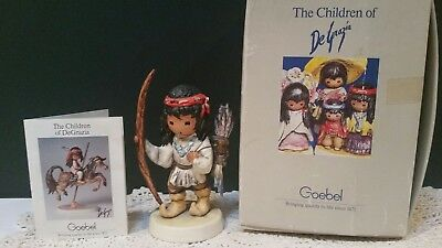 "Goebel Degrazia Figurine ""my First Arrow"" #10331 1987"