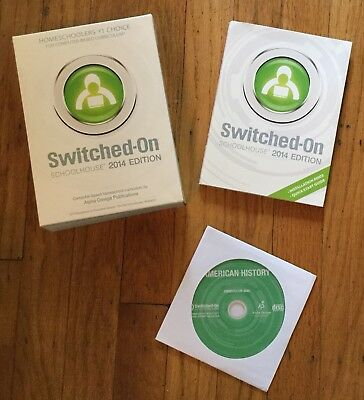 Switched on Schoolhouse American History + Installation Disc, Free Shipping