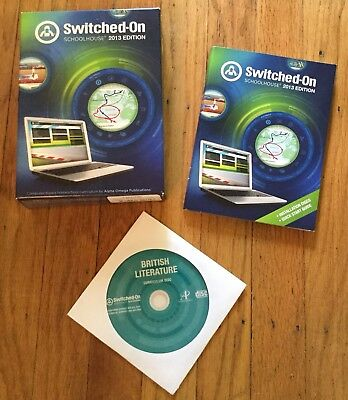 Switched On Schoolhouse British Literature + Installation Disc, Free Shipping