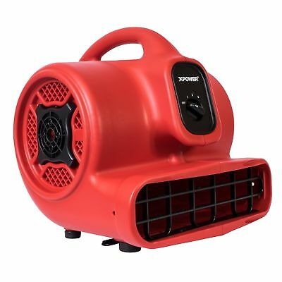 XPOWER P-430 1/3 HP 2000 CFM 3 Speed Air Mover Carpet Dryer Blower Fan