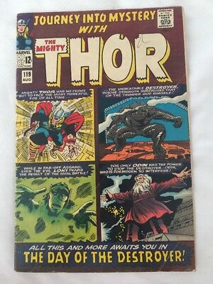JOURNEY INTO MYSTERY #119. MARVEL COMICS 1965. THOR vs THE DESTROYER