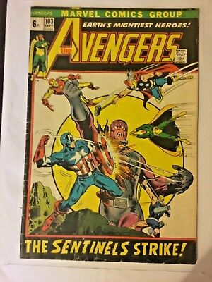Avengers #103. September 1972. Roy Thomas / Rich Buckler. Avengers Vs Sentinels!