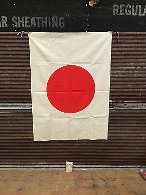 Rare Nos Vintage Antique Ww2 Japanese Flag Red Circle Japan With Rare Photo