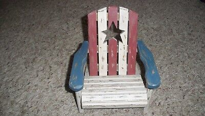 Cool Americana Red White And Blue Wooden Adirondack Chair 9 99 Pdpeps Interior Chair Design Pdpepsorg