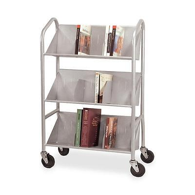 "Buddy Sloped Shelf Cart,w/6 Dividers/3-Shelves,26""x16""x41-1/2"",SR 54143"