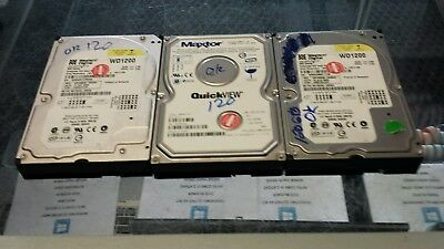 "LOT OF 3 USED 120GB  3.5"" IDE Desktop Hard DriveS TESTED AND WIPED FREE SHIPPING"