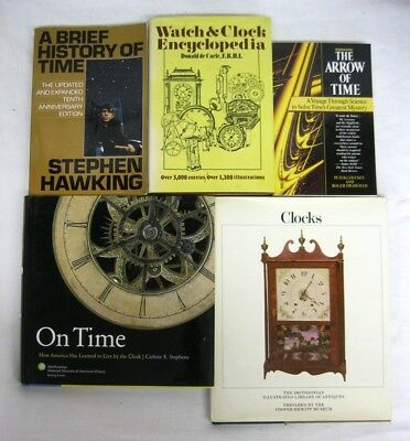 History of Time Clocks Encyclopedia Practical Theoretical Historical 5 books