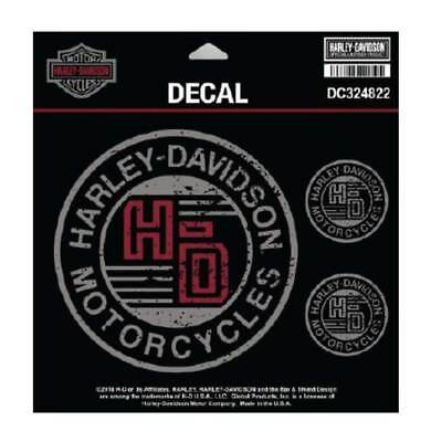 Harley-Davidson Forged Circle Decals, 4 Per Sheet - 4.5 x 4.5 in. DC324822