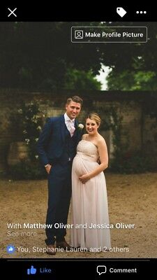 Coast Maternity Bridesmaid Dress Uk Size 14 adjusted To Fit A Size 10/12 Pregnan