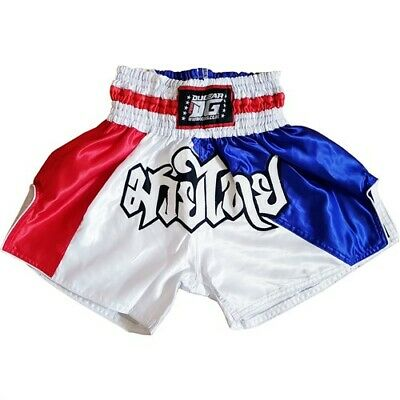 Kids XS - XL Adults RED DUO /'LITE/' KICKBOXING THAI FIGHTER SHORTS