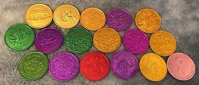 Lot Of (17) Krewe Of Okeanos Mardi Gras Doubloons No Dupes