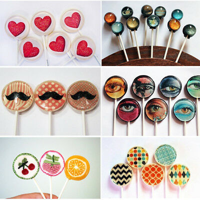 12 Capacity Chocolate Hard Candy Lollipop Molds with Sucker Sticks Hot Sale D