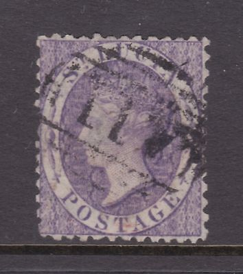 old St Lucia stamp 1864 (6d) violet CC watermark perf 12½