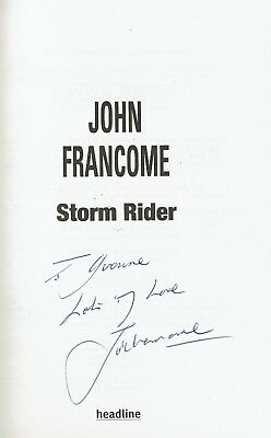 Storm Rider Signed Book John Francome 1St Edition
