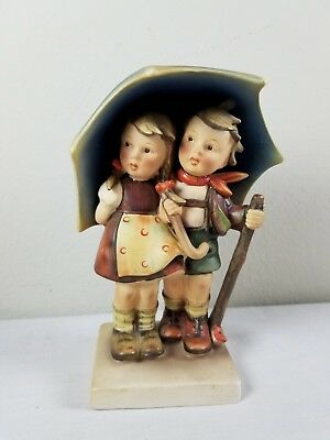 "Vintage Hummel Pottery Figurine * Stormy Weather # 71 * TMK-2 * 6 5/8"" tall"