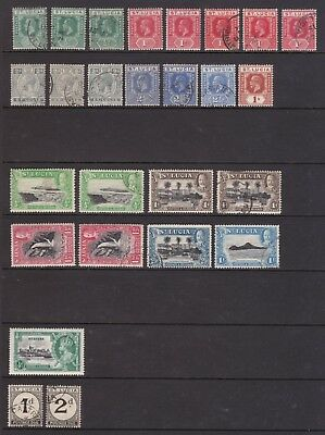 old St Lucia stamps 1912-1936 collection of GV stamps