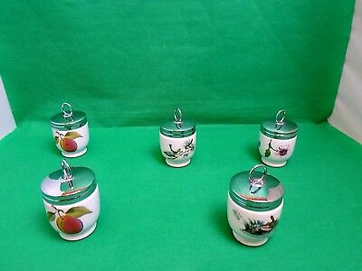 Royal Worcester Egg Coddlers x 5