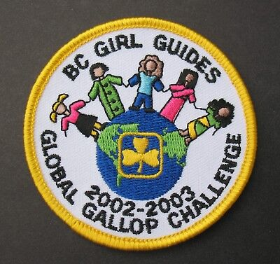 Girl Guides Canada  B.c. Global Challenge 2002 2003 Embroidered Patch Brownies