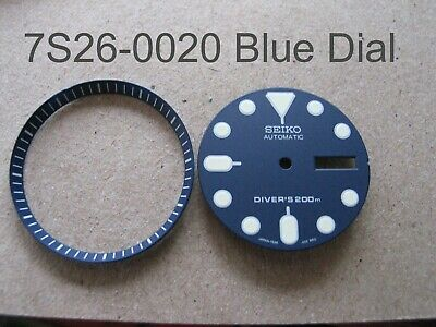 NEW BLUE Dial / Hands/ Chapter Ring Set Made for SEIKO Diver 7s26-0020 Auto