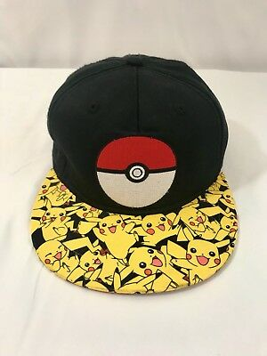 75e4c260c28 POKEMON GO Video Game CARD Pikachu Youth BOYS OSFM HAT SnapBack Hat Cap
