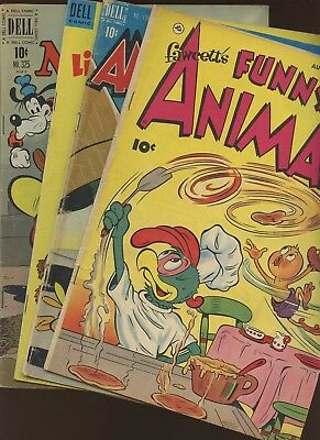 Fawcett's Funny Animals 72 Four Color 198,325,473 ~ 4 Book Lot * Golden Age!