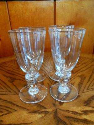 4 Fabulous Simon Pearce Hartland Wine Glasses Love This Pattern 6 3/4""