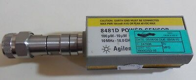 Agilent 8481D Power Sensor 10mhz to 18 GHz....not freshly calibrated.. nice unit