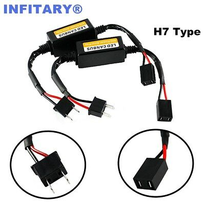 2pcs H7 Car LED Headlight Canbus Decoder Error Free HID Anti-Flicker Resistor