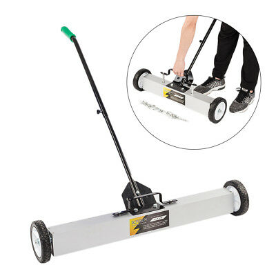 "36"" Magnetic Sweeper Floor Rolling Pick Up Roller Push Broom"