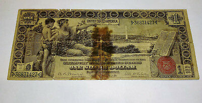 1896 Silver Certificate Large $1 Dollar Red Seal Educational Note Rare