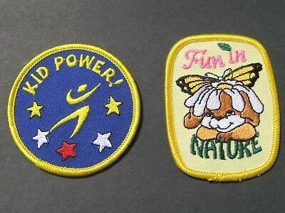 Girl Guides Scouts 2 Kid Power & Fun In Nature Embroidered Patches Brownies
