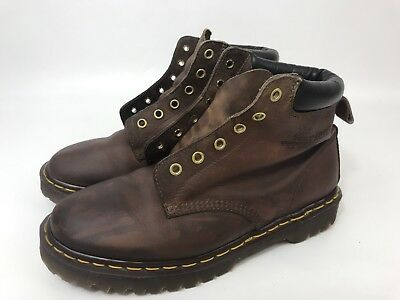 Dr. Marten The Original Brown Leather 6 Eye Air Cushion Work Boot Men 9 Women 10