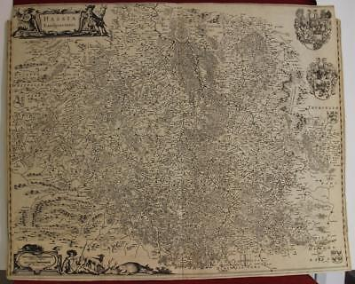 HESSE-KASSEL GERMANY 1660ca BLAEU UNUSUAL ANTIQUE ORIGINAL COPPER ENGRAVED MAP