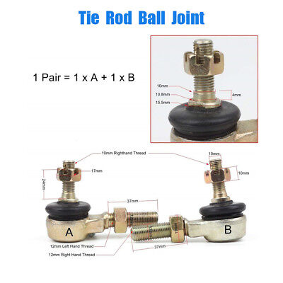 2 x Motorcycle Metal Tie Rod Ball Joint For  ATV Quad 4-Wheeler 50cc-250cc